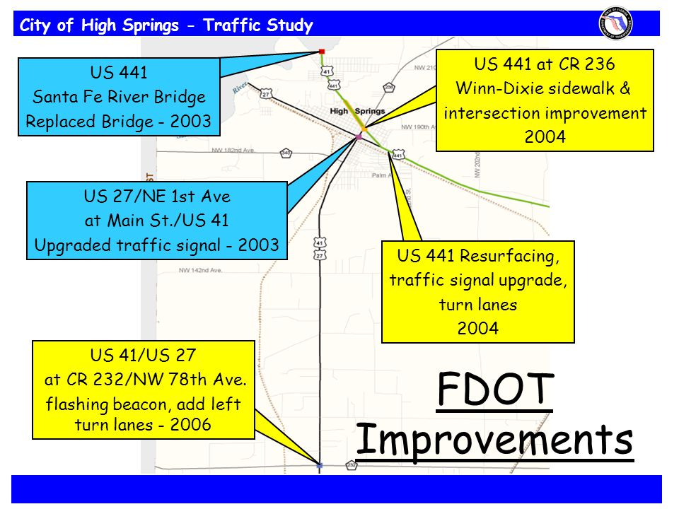 City of High Springs - Traffic Study US 41/US 27 at CR 232/NW 78th Ave.