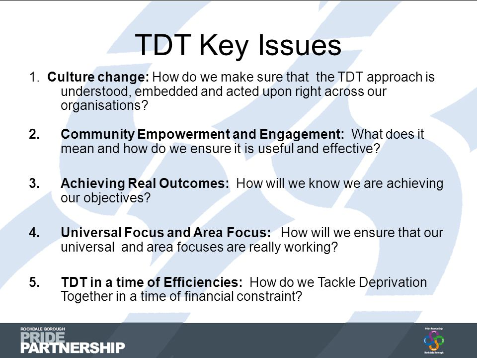 TDT Key Issues 1.