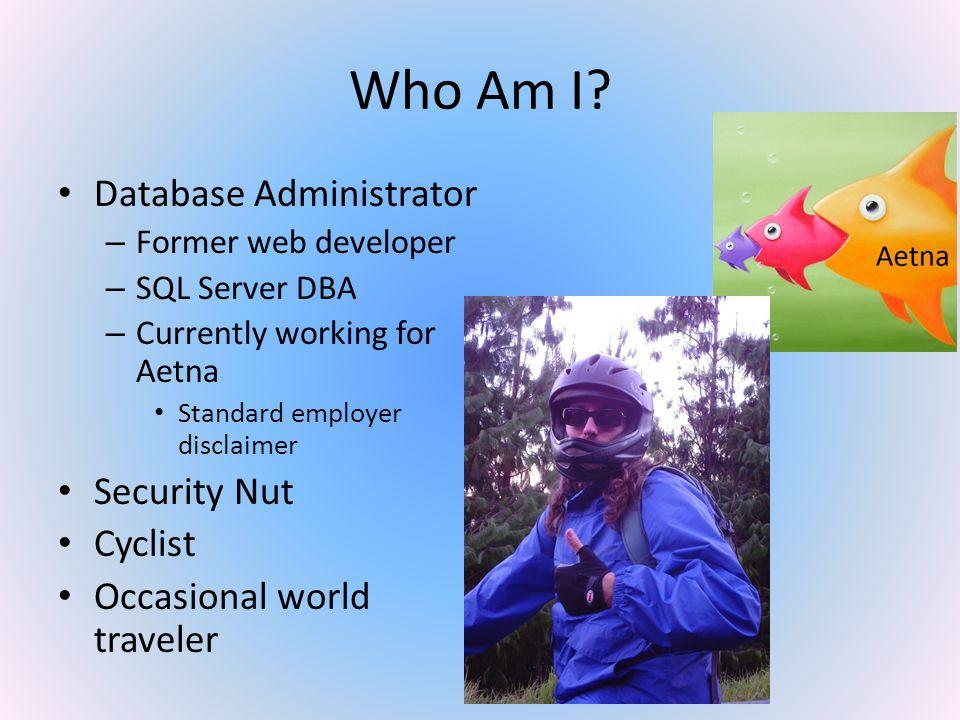 2 Who Am I Database Administrator