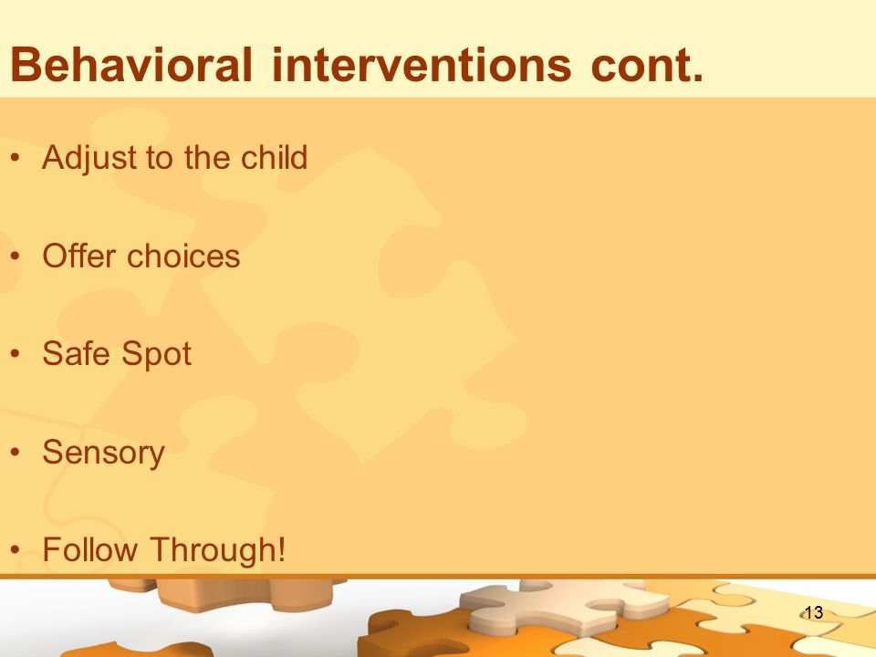 13 Behavioral interventions cont.