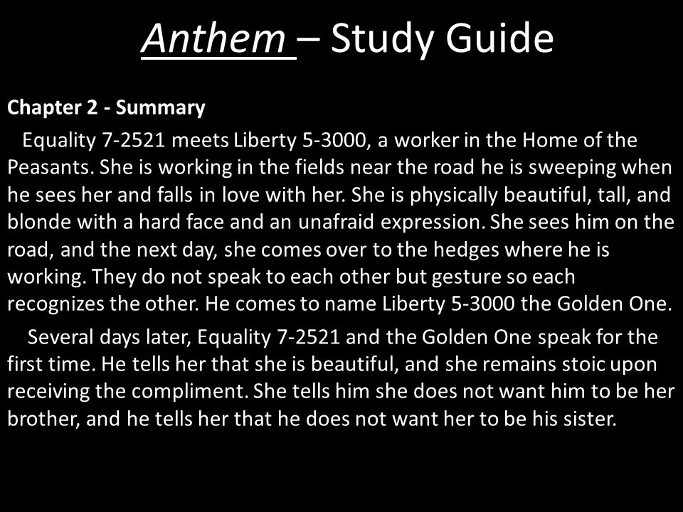 Anthem – Study Guide - ppt download