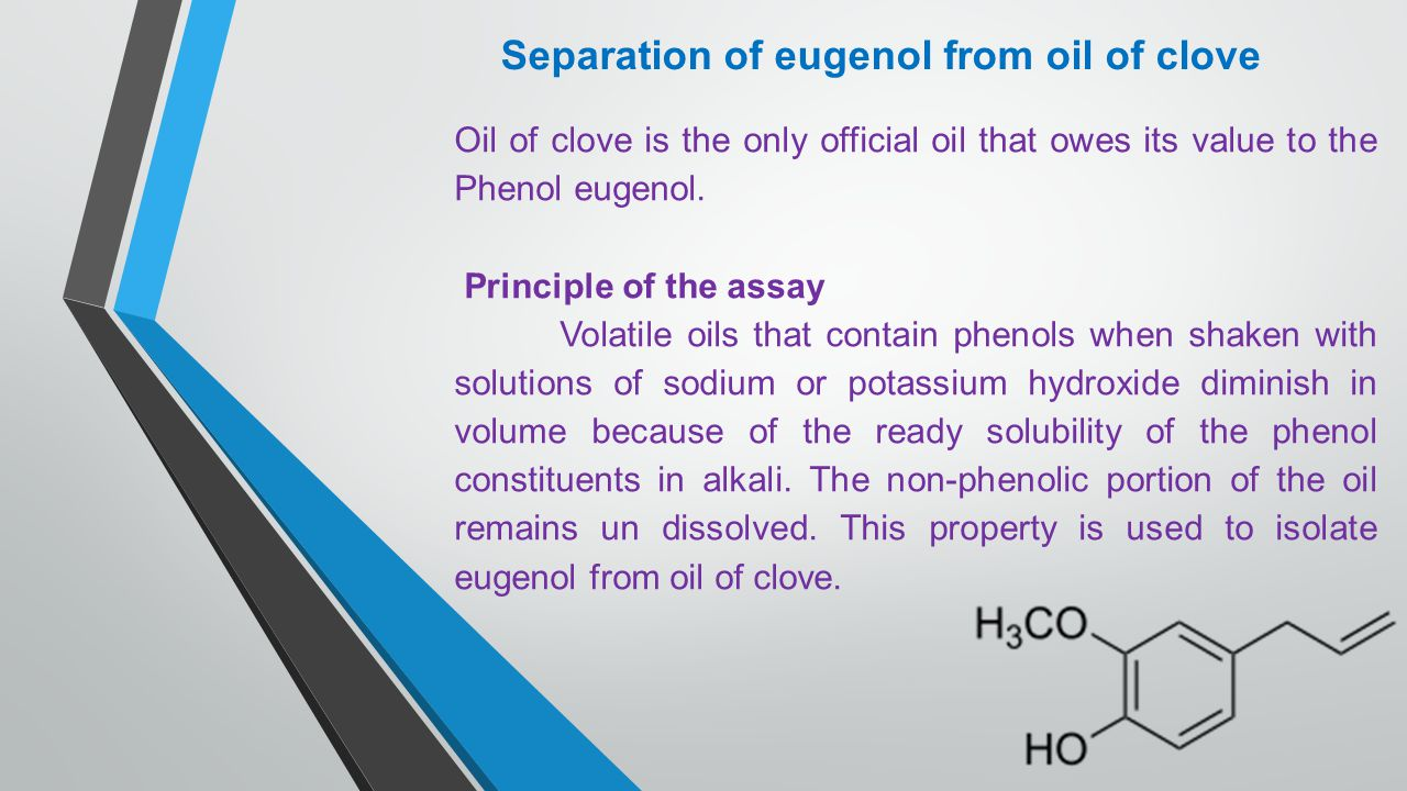 isolation of eugenol from clove oil