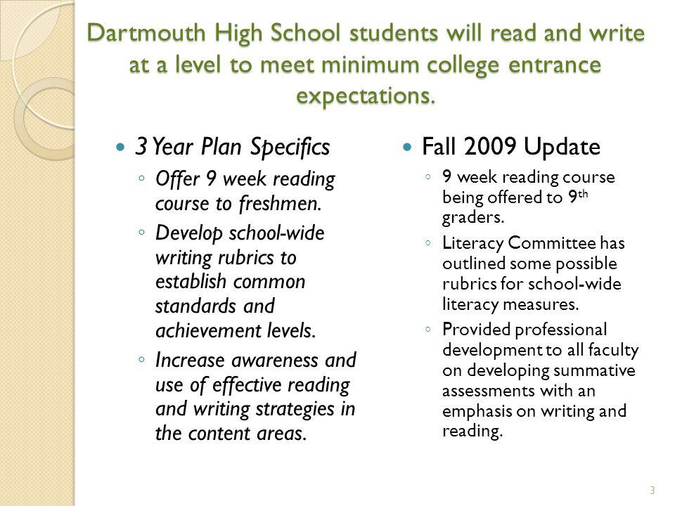 Dartmouth High School District Goals Update ppt download