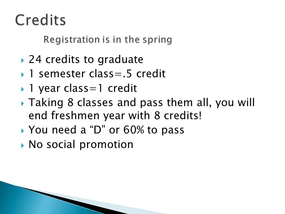 24 credit hours is how many classes