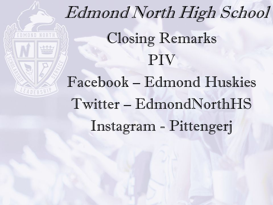 Edmond North High School Welcome New To North Night Ppt Download