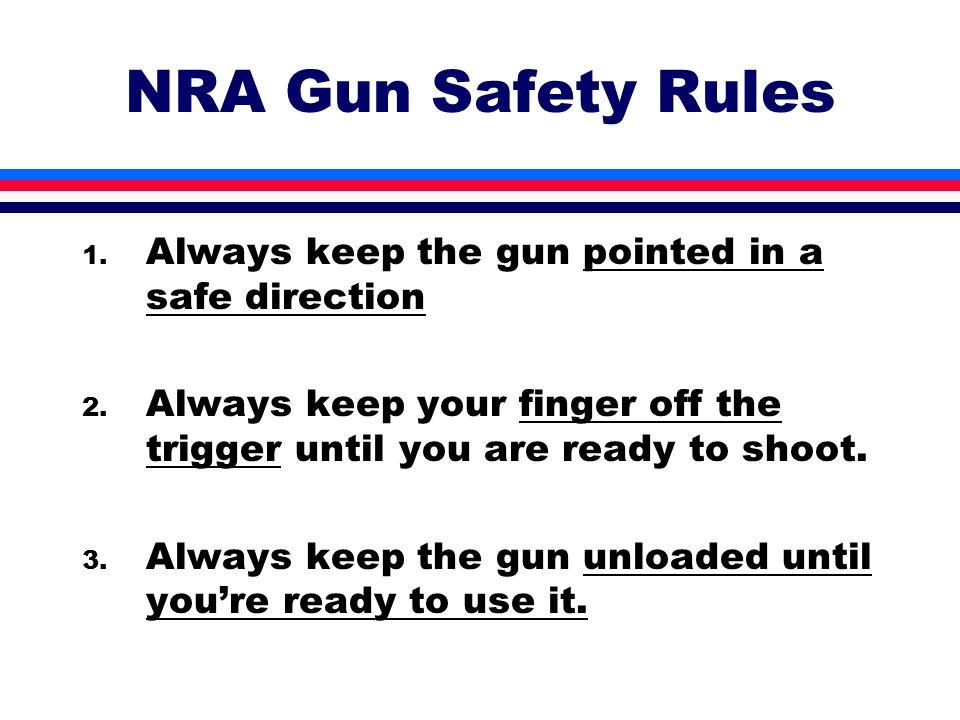 photograph regarding Printable Gun Safety Rules named Nra Gun Protection Legal guidelines Poster - : HSE Nusantara - HSE