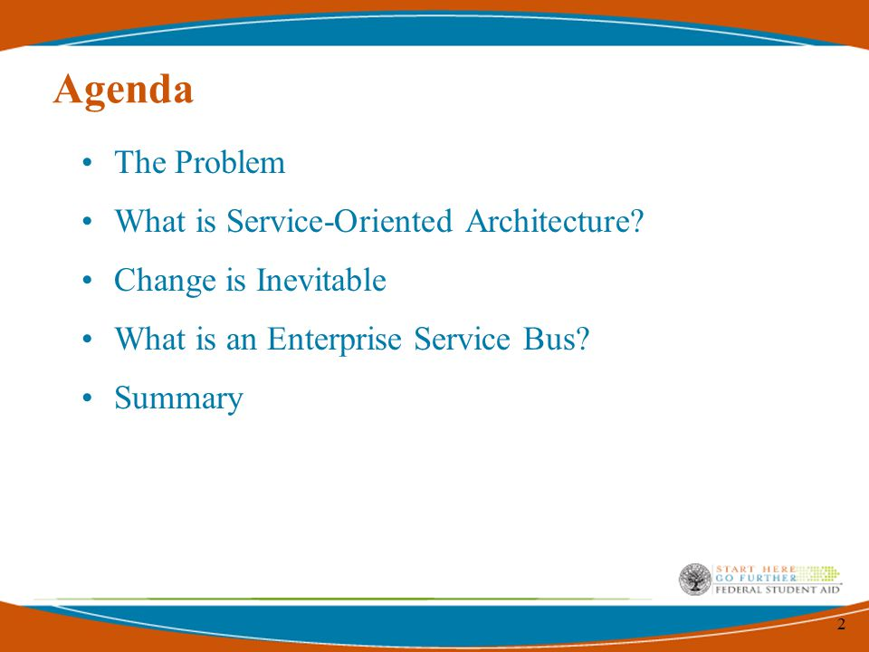 2 Agenda The Problem What is Service-Oriented Architecture.