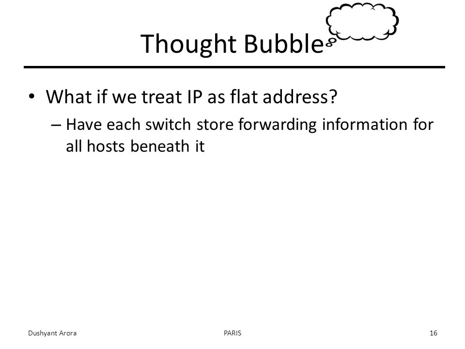 What if we treat IP as flat address.