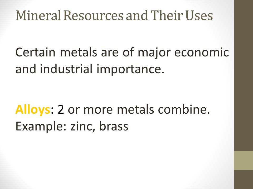 Mineral and Mineral Resources Section 1  What Is a Mineral