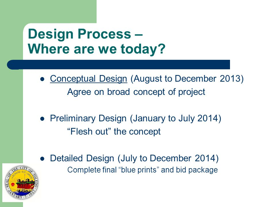 Design Process – Where are we today.