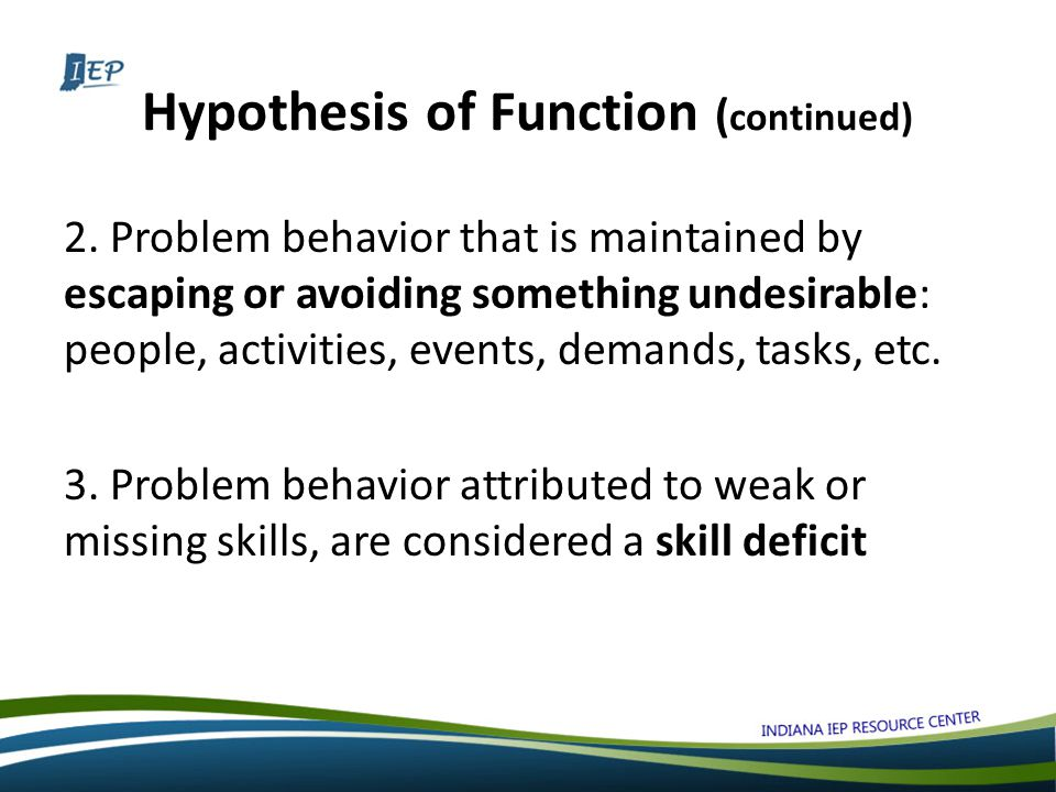 Hypothesis of Function ( continued) 2.