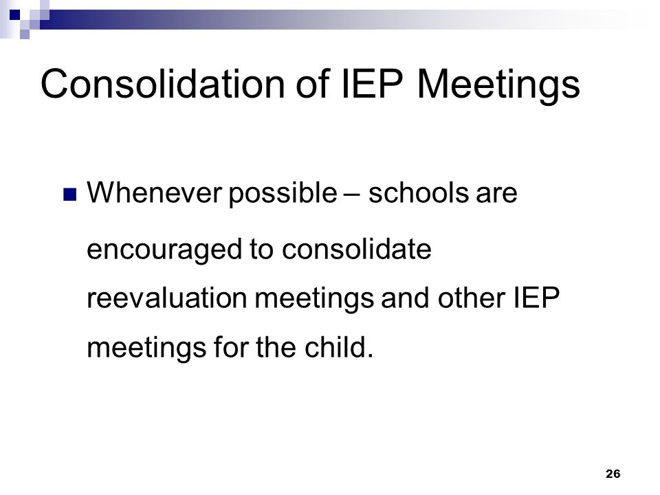 25 IEP Amendments without a Meeting, cont.