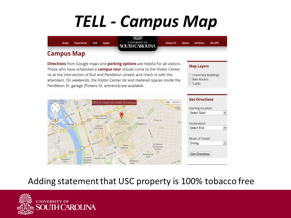Talking Points Tobacco Free Usc Campus Wide Policy January 1 Ppt