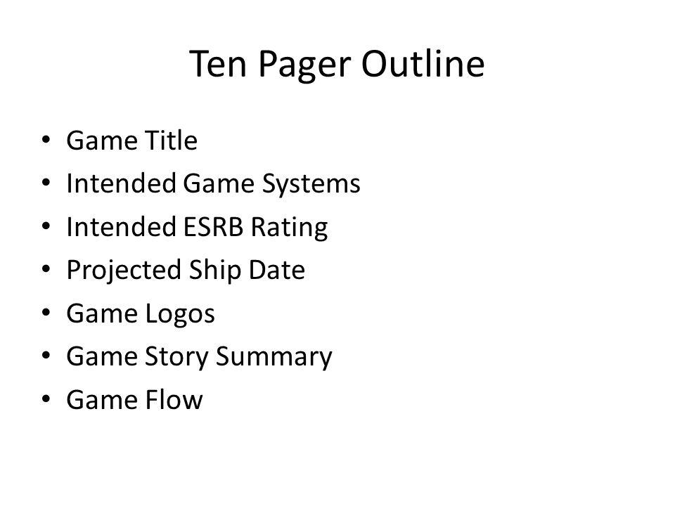 Documentation COSC Spring Bridget M Blodgett Ppt Download - Game flow summary