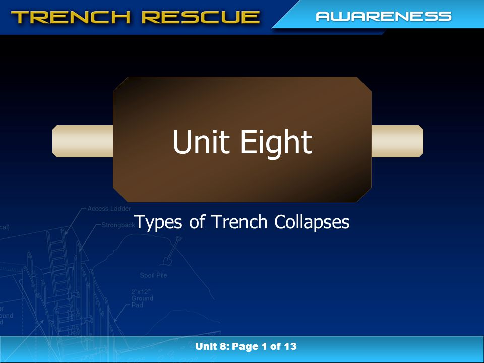 Unit Eight Types of Trench Collapses Unit 8: Page 1 of 13