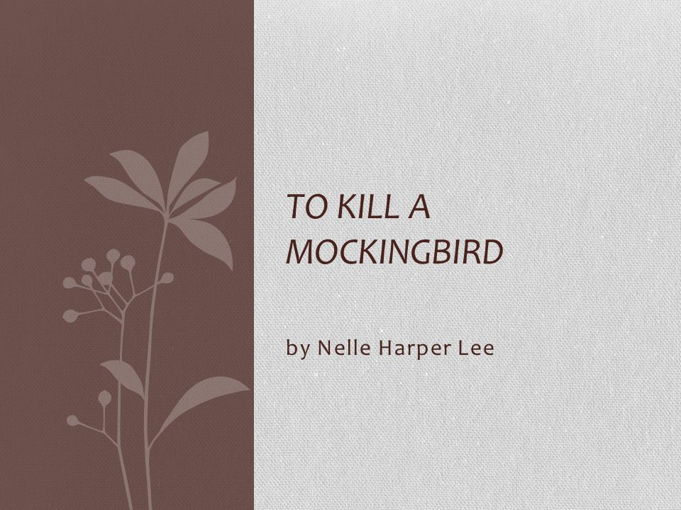 to kill a mockingbird background