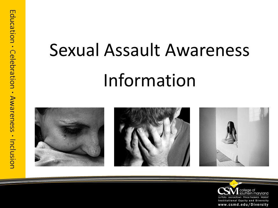 Sexual Assault Awareness Information Education · Celebration · Awareness · Inclusion