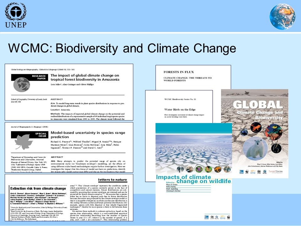 WCMC: Biodiversity and Climate Change