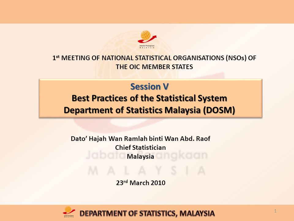 Session V Best Practices Of The Statistical System Department Of