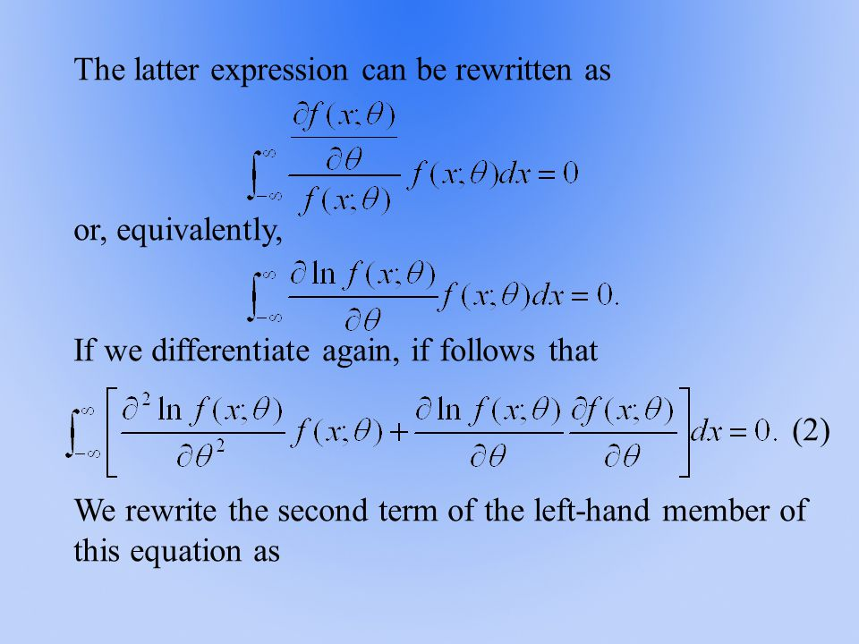 The latter expression can be rewritten as or, equivalently, If we differentiate again, if follows that (2) We rewrite the second term of the left-hand member of this equation as