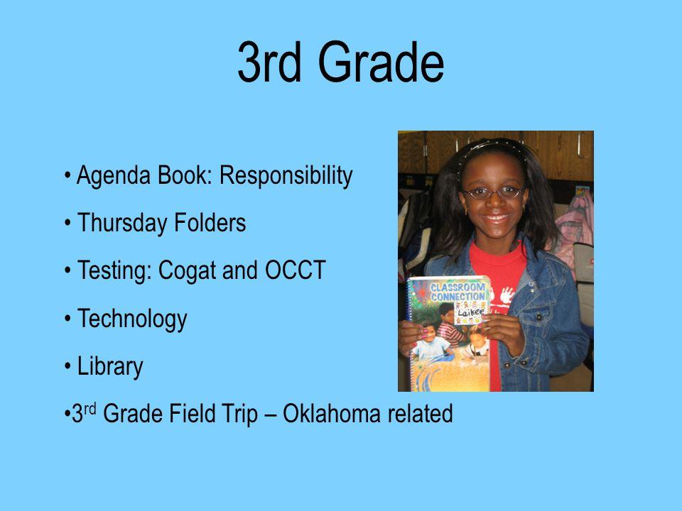 Welcome To 3rd Grade Rd Grade Agenda Book Responsibility Thursday
