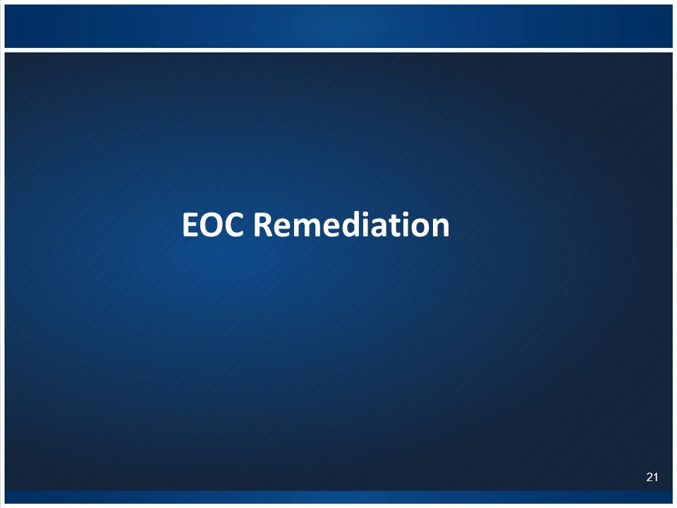 EOC Remediation 21