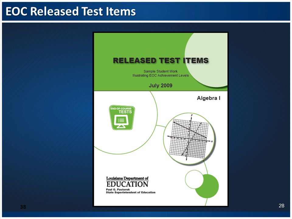 EOC Released Test Items 38 28