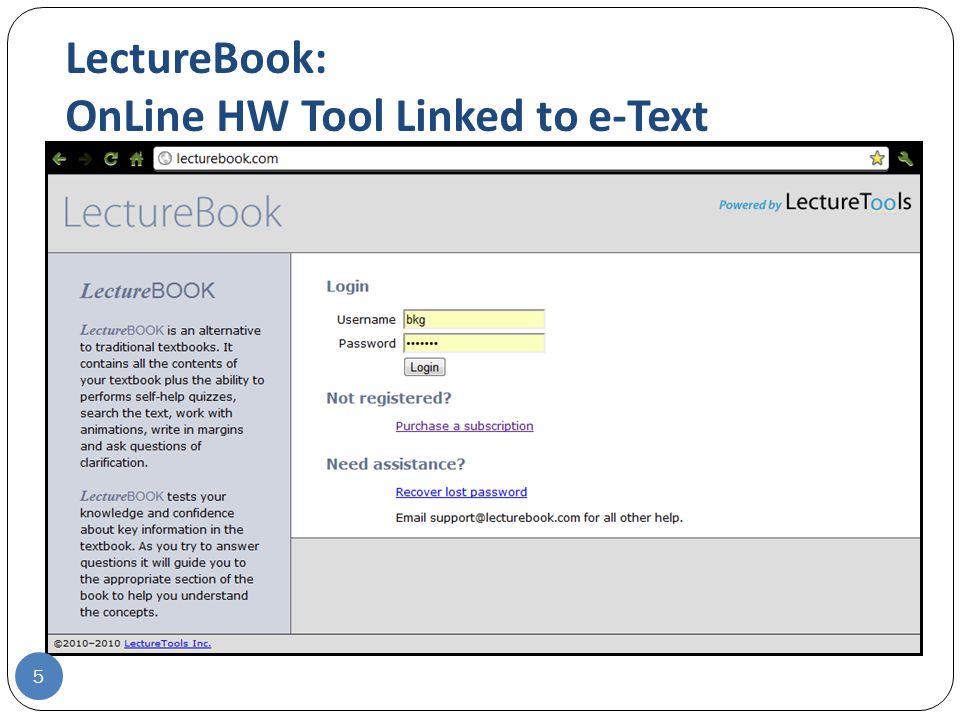 lecturebook homework tool