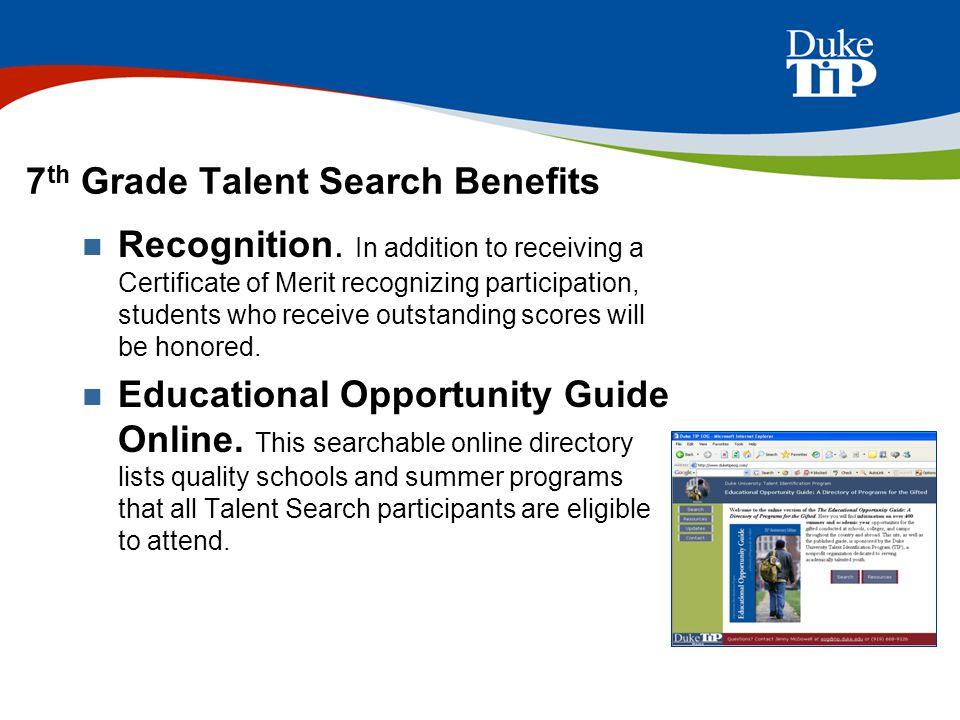 The Duke University Talent Identification Program McAllen