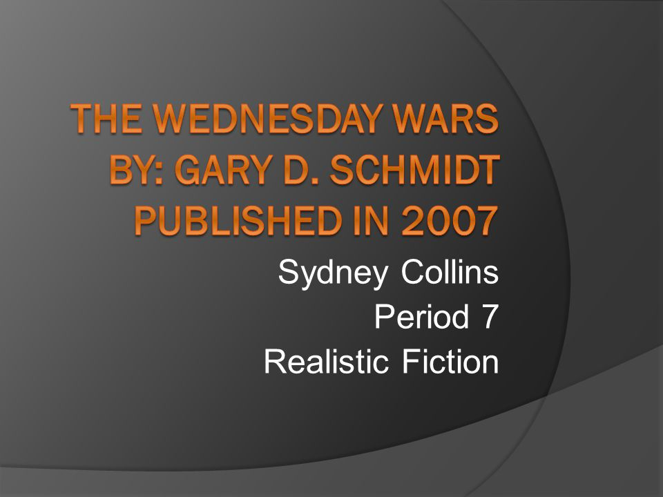 Sydney Collins Period 7 Realistic Fiction The Setting Takes Place