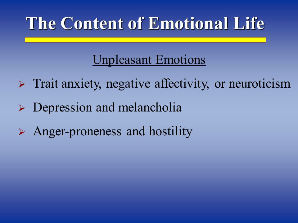 emotion and personality emotions components of emotions e g