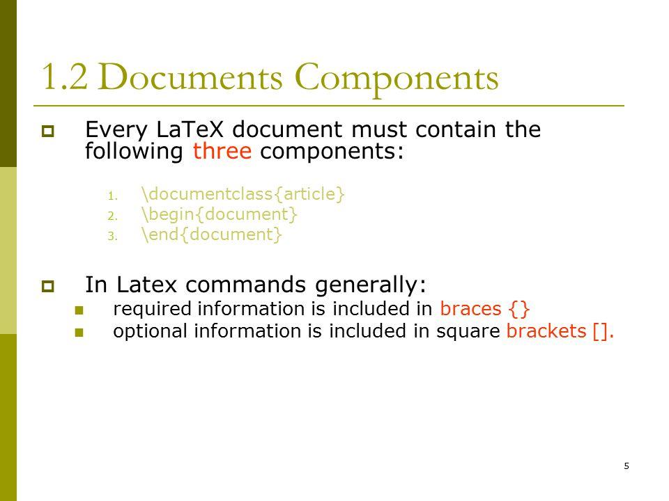 Latex three dots command