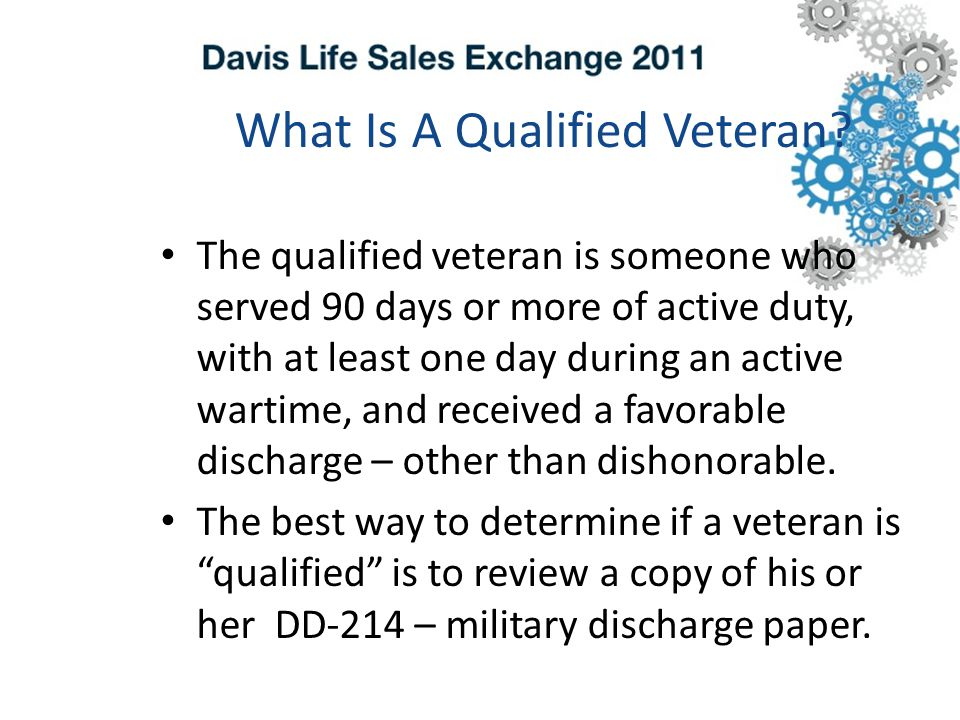 What Is A Qualified Veteran.