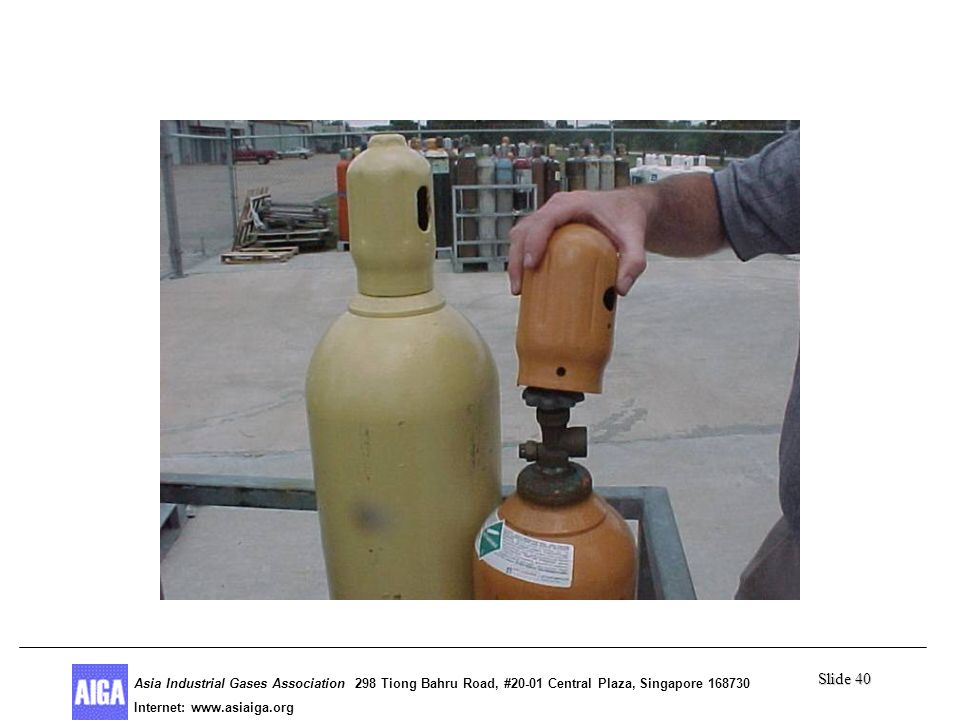 Slide 40 Asia Industrial Gases Association 298 Tiong Bahru Road, #20-01 Central Plaza, Singapore Internet: http//  Asia Industrial Gases Association 298 Tiong Bahru Road, #20-01 Central Plaza, Singapore Internet:
