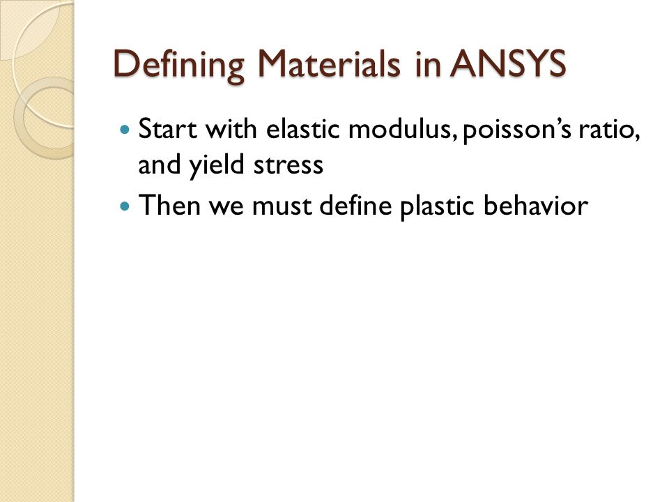 Plasticity Jake Blanchard Spring Analysis of Plastic