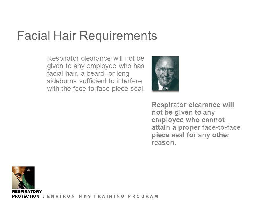 Facial hair respirator