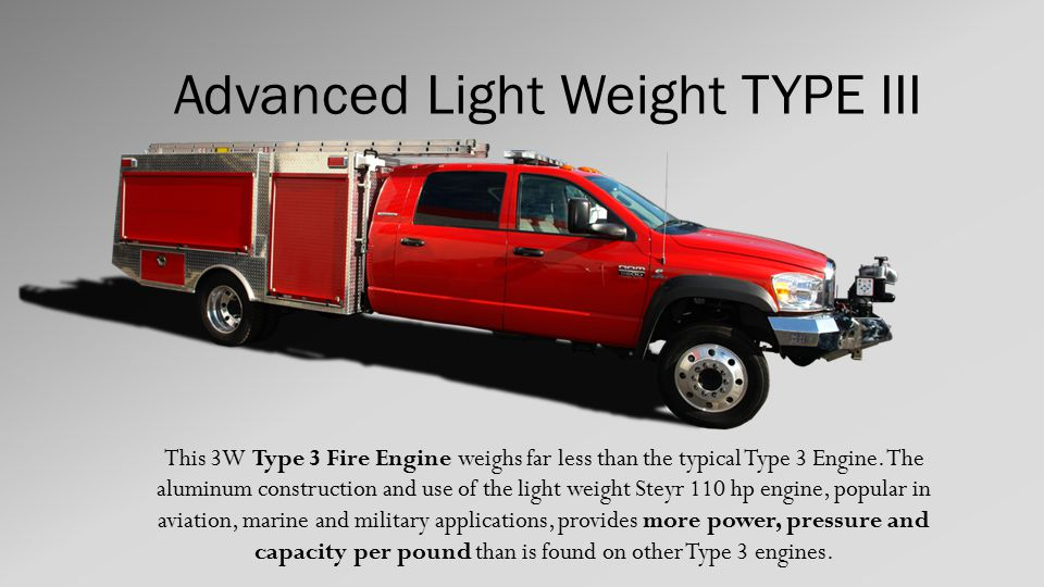 Light Weight Type III Engine 4x4 Brush & Structure Highway