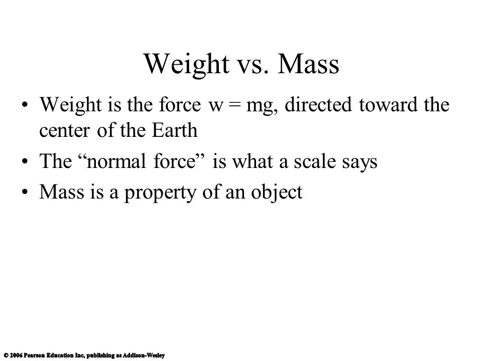 Weight vs.