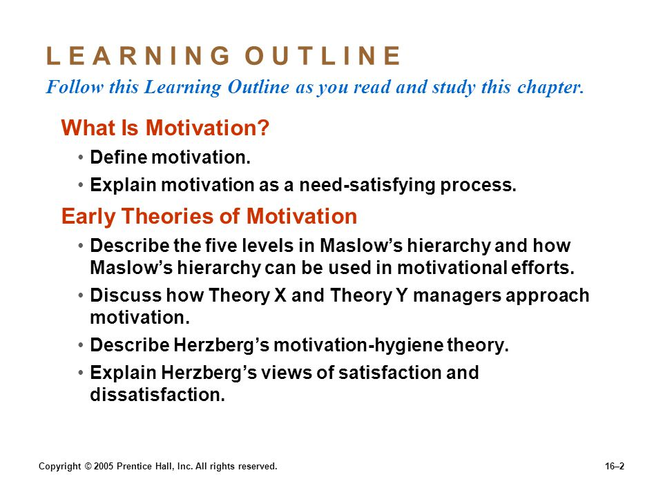 16–2 L E A R N I N G O U T L I N E Follow this Learning Outline as you read and study this chapter.