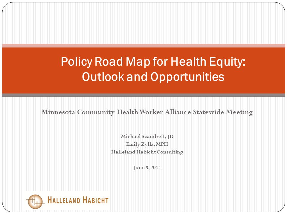 Policy Road Map for Health Equity: Outlook and Opportunities ...