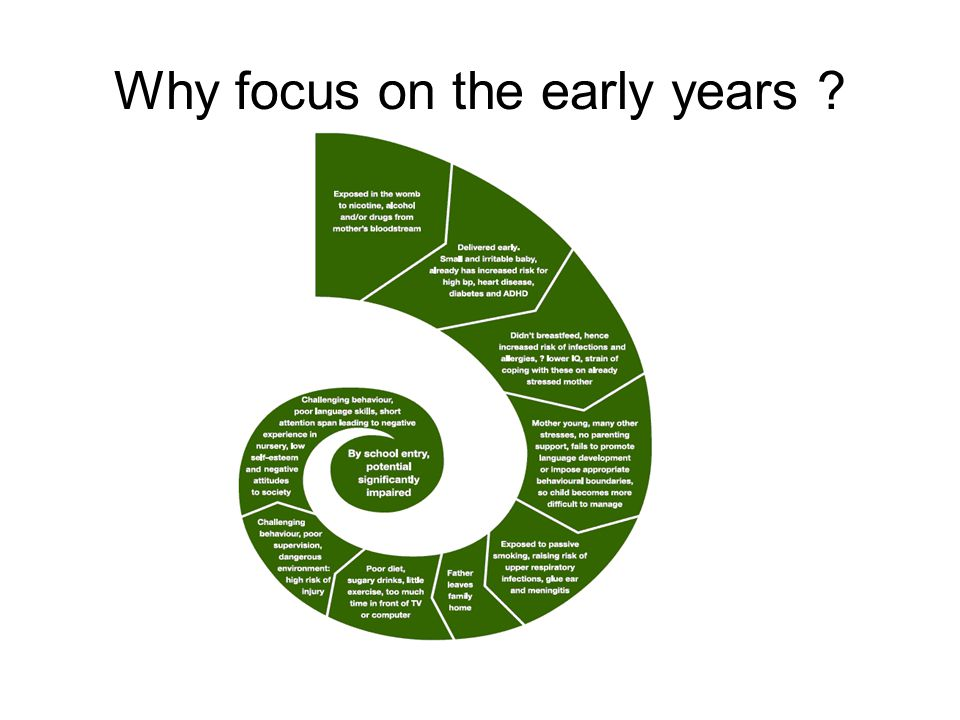 Why focus on the early years