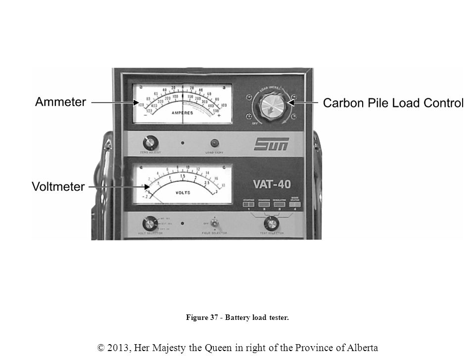 Figure 37 - Battery load tester.