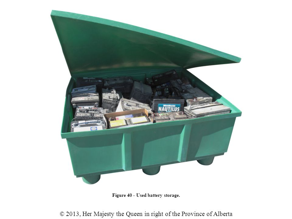 Figure 40 - Used battery storage.