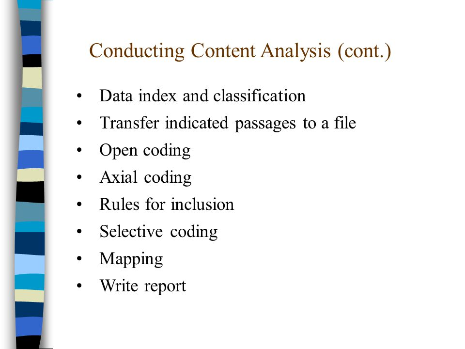 how to write a content analysis report