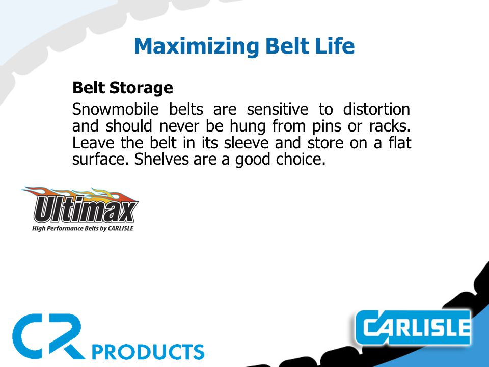 Snowmobile Belt Maintenance  Preventive maintenance and the