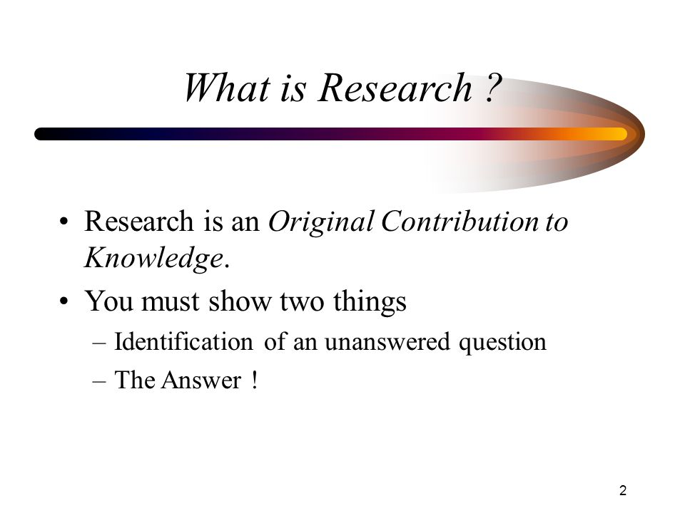 research contribution statement examples