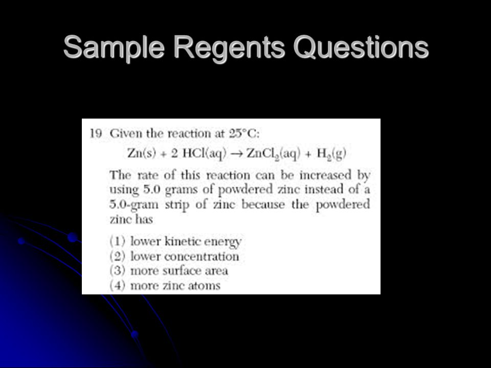 Sample Regents Questions