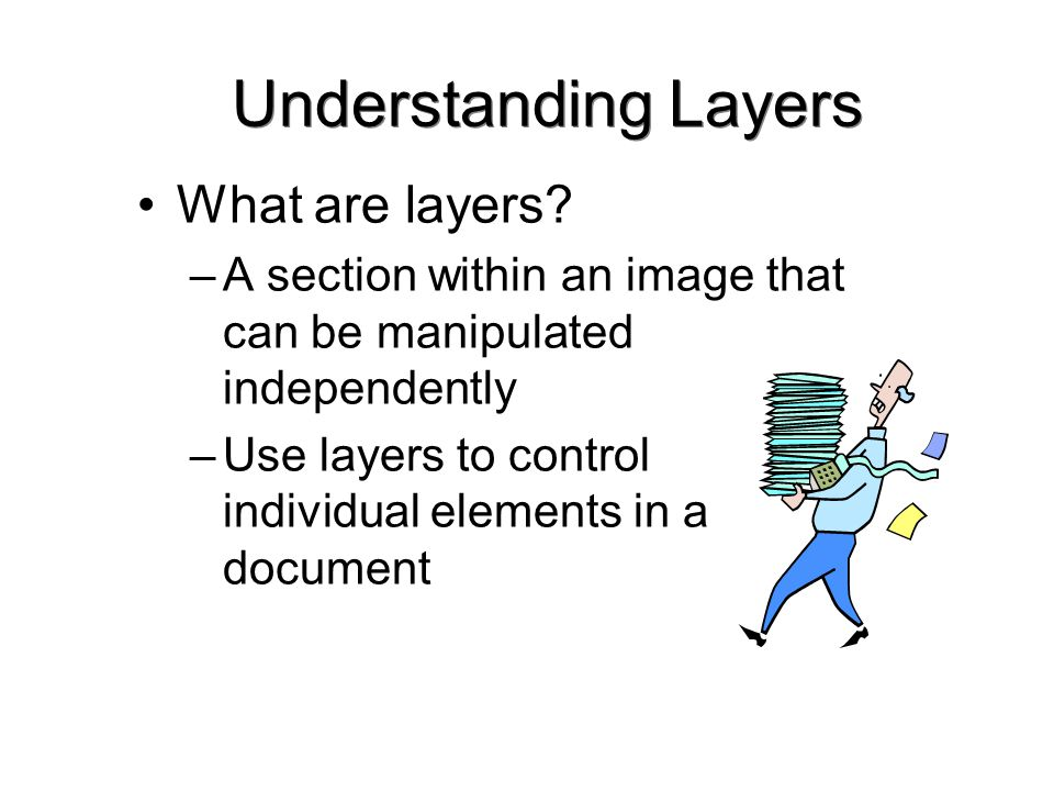 Understanding Layers What are layers.