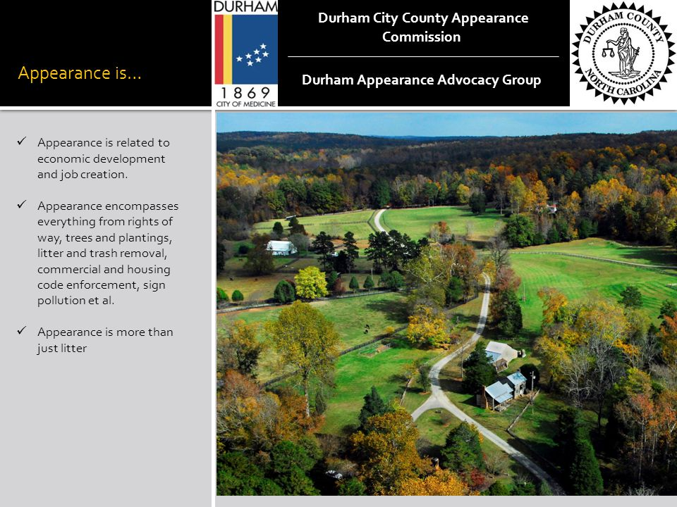 Durham City County Appearance Commission Durham Appearance Advocacy