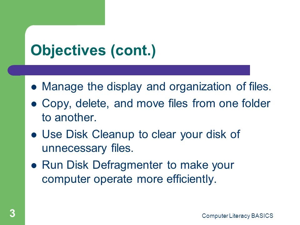 Computing Fundamentals Module Lesson 5 — File Management